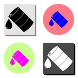 Barrel oil. flat vector icon. Barrel oil. simple flat vector icon illustration on four different color backgrounds vector illustration