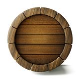 Barrel. Old barrel background isolated on white. 3d illustration Royalty Free Stock Image