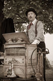 Barrel Organ Musician, Player Royalty Free Stock Image