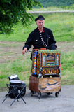 Barrel Organ Player Royalty Free Stock Image
