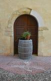 Barrel Outside Door in Valvasone Stock Photos