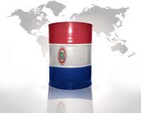 Barrel with paraguayan flag royalty free illustration