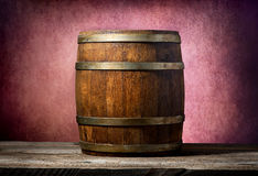 Barrel on pink background Stock Photography
