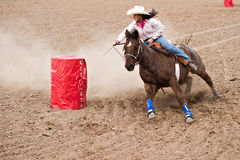 Barrel race Royalty Free Stock Photo