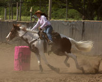 Barrel Racer. Event: 2011 Hawai'i Women's Rodeo Association All Girls Statewide Rodeo (19th Annual Royalty Free Stock Images