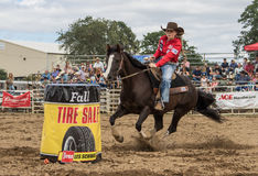 Barrel Racer Stock Photo