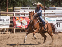 Barrel Racer Full Speed Stock Image