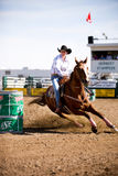 Barrel Racing. At a small town rodeo in Saskatchean. Herbert Rodeo 2007 royalty free stock images