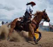 Barrel Racing Stock Photo