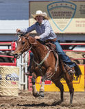 Barrel Racing. Action at the Cottonwood Rodeo in northern California stock photo