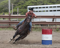 Barrel Racing Royalty Free Stock Photography