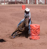 Barrel Racing Stock Image