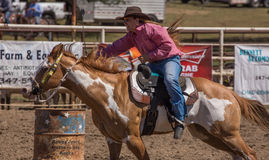 Barrel Racing Sprint Royalty Free Stock Images