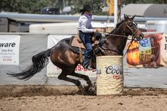 Barrel Racing on a Sunday Afternoon royalty free stock images