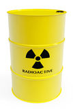 Barrel with radioactive materials Stock Photo