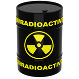 Barrel with radioactive materials. On a white background royalty free illustration