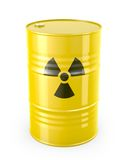 Barrel with radioactive symbol. On white background royalty free illustration