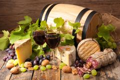 Barrel with red wine stock photos
