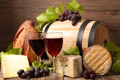 Barrel with red wine royalty free stock image