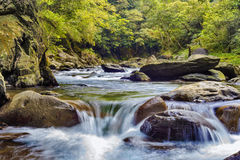 Barrel river, Taiwan Royalty Free Stock Photo