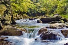 Barrel river, Taiwan Royalty Free Stock Photo
