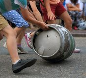 Barrel rolling race