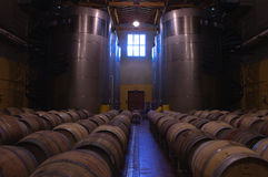 Barrel room with tanks Royalty Free Stock Image