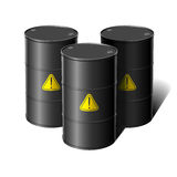 Barrel with sign attention. Vector illustration Royalty Free Stock Photo