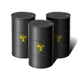 Barrel with sign biohazard. Vector illustration Stock Image