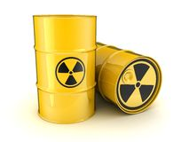 Barrel and the sign of radiation Stock Images
