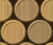 Barrel stand seamless background Stock Image