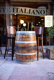 Barrel and stools Stock Photos
