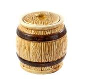 Barrel for sugar or salt Royalty Free Stock Image