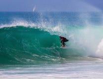 Barrel surf royalty free stock images