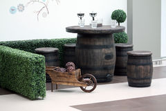Barrel table Royalty Free Stock Image