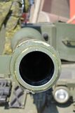 Barrel of a Tank. Looking down the barrel of a Canadian Tank Stock Images