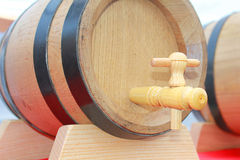 Barrel with tap. A wine barrel with tap Stock Images