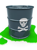 Barrel with toxic liquid Stock Images