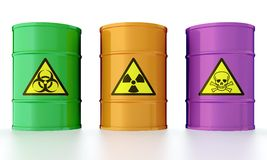 Barrel with toxic waste Royalty Free Stock Images