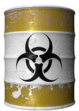 Barrel of toxic waste. A steel barrel of toxic waste Royalty Free Stock Image