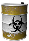 Barrel of toxic waste rotated. A steel barrel of toxic waste Royalty Free Stock Photos