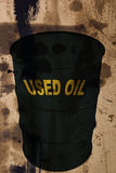 Barrel of used industrial oils Royalty Free Stock Photo