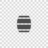 Barrel vector icon. On white background Stock Photos