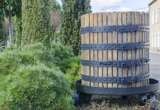 Barrel of vine, Burgundy, France Royalty Free Stock Photography