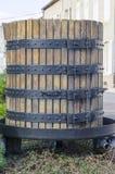 Barrel of vine, Burgundy, France Stock Photo