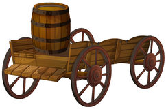 Barrel and wagon Royalty Free Stock Photo