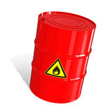 Barrel with a warning sign Royalty Free Stock Photo