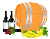 Barrel with wine Stock Photo