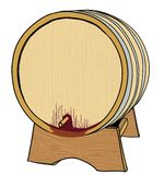 Barrel with wine Stock Images