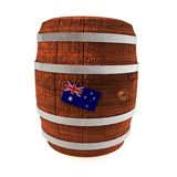 Barrel of wine with Australia flag Royalty Free Stock Photography